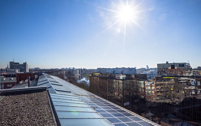 Berlins größte Photovoltaikanlage